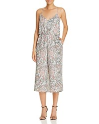 Cupcakes And Cashmere Gale Floral Paisley Crop Jumpsuit Pale Green