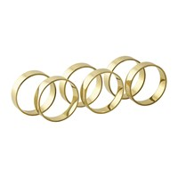 Broste Copenhagen 'Ring' Napkin Ring Set Of 6 Brass