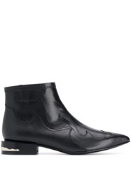Toga Pulla Pointed Toe Western Boots Black