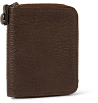 Parabellum Courier Zip Around Leather Billfold Wallet Brown