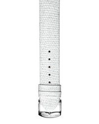 Philip Stein Teslar 20Mm Embossed Leather Watch Strap White