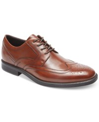 Rockport Men's Dressports Business Wingtip Oxfords Men's Shoes Brown