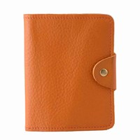 N'damus London Luxury Italian Leather Orange Passport Cover Yellow Orange
