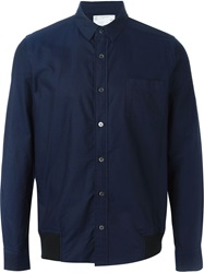 Sacai Shirt Jacket Blue