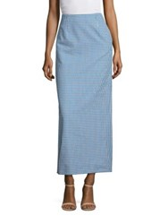 Creatures Of The Wind Sova Houndstooth Skirt Blue White