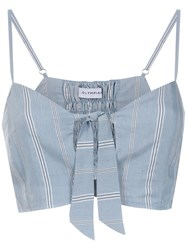 Olympiah Fiora Cropped Top Blue