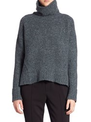 Brochu Walker Oban Castle Felt Turtleneck Sweater Sea Port Melange