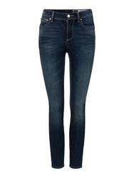 Armani Exchange Mid Rise Skinny Jeans Denim Mid Wash