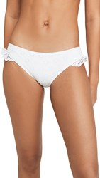 Kate Spade New York Eyelet Ruffle Bikini Bottoms White