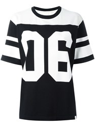 White Mountaineering Football Shortsleeved Sweatshirt Black