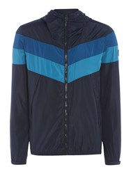 Duck And Cover Pennant Jacket French Navy