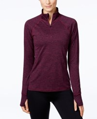 Ideology Rapidry Half Zip Performance Pullover Only At Macy's Sweet Fig