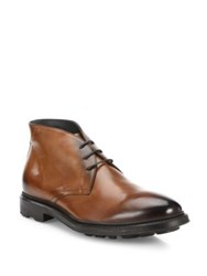 To Boot Jarod Leather Ankle Length Boots Cognac
