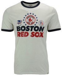 47 Brand '47 Men's Boston Red Sox Archive Riger Bic T Shirt White Navy