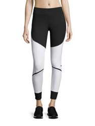 Adidas By Stella Mccartney Two Tone Training Tights Black White