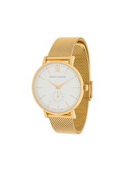 Larsson And Jennings Lugano Jura Milanese 38Mm Watch Gold