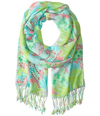 Lilly Pulitzer The Lilly Scarf Surf Blue Checking In Scarves