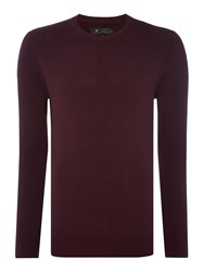 Label Lab Men's Isaac Waffle Crew Neck Knit Red