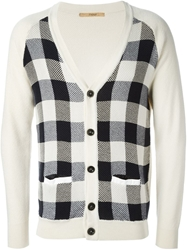 Nuur Checked Panel Cardigan