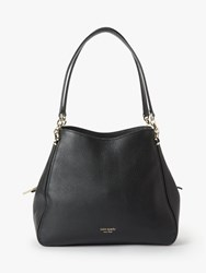 Kate Spade New York Hailey Medium Leather Shoulder Bag Black