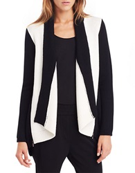 Kenneth Cole Haven Colorblocked Sweater Chalk Black
