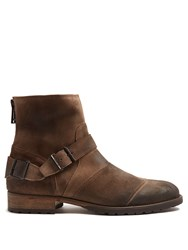 Belstaff Trialmaster Suede Boots Light Brown