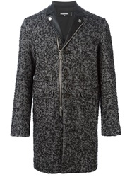 Dsquared2 'Chic Kiodo' Tweed Coat Black