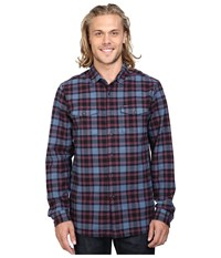 Volcom Martens Heavy Weight Lined Flannel Blue Fog Men's Clothing