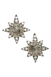Nadri Holiday Star Stud Earrings Black
