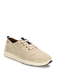 Toms Del Rey Lace Up Sneakers Natural
