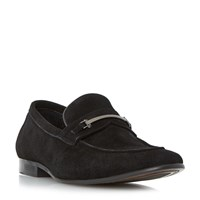 Dune Pistol Snaffle Sleek Loafer Black