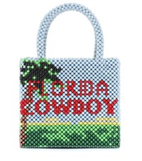 Shrimps Earl Florida Cowboy Beaded Tote Multicoloured