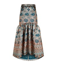 Temperley London Tower Jacquard Gown Skirt Metallic