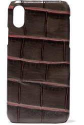 The Case Factory Croc Effect Leather Iphone X Brown