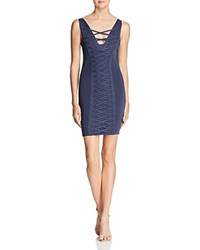 Guess Mirage Lace Up Dress Blue