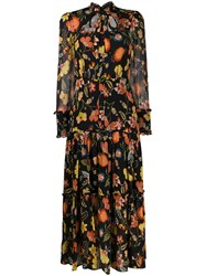 Alexis Ruffled Trim Floral Print Dress 60