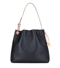Tom Ford Medium Hook Leather Shoulder Bag Black