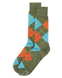 Bloomingdale's The Men's Store At Genova Argyle Socks Sage Green