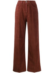 Haikure Corduroy Wide Leg Trousers Brown