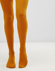 Gipsy Cable Design Tights Yellow