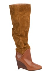 Maison Martin Margiela Wedge Knee High Boots Brown