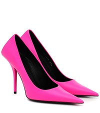 Balenciaga Square Knife Leather Pumps Pink