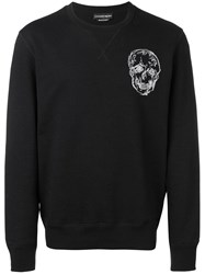 Alexander Mcqueen Skull Embroidered Sweatshirt Black