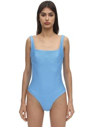 Heidi Klein Cairns Rope Back One Piece Swimsuit Light Blue