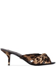 Dolce And Gabbana Leopard Print 65Mm Mules Brown