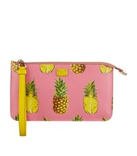 Dolce And Gabbana Flat Logo Pouch Female Pink