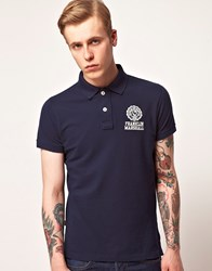 Franklin And Marshall Pique Polo Shirt Navy Blue