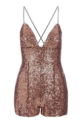 Rare Strappy Sequin Playsuit By Bronze