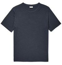 Dries Van Noten Slim Fit Cotton Jersey T Shirt Storm Blue