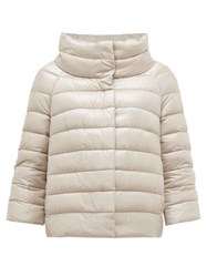 Herno Sofia Quilted Down Jacket Silver
